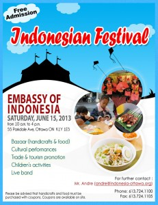 Indonesian Festival 2013 Flyer